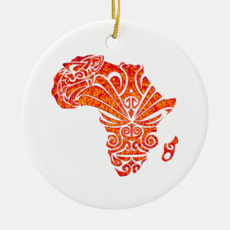 TRIBUTE TO AFRICA ROUND CERAMIC DECORATION
