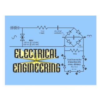 Tribute to Electrical Engineering Postcard