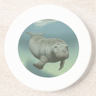 TRIBUTE TO MANATEES BEVERAGE COASTER