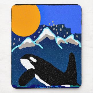 tribute to ruffles killer whale mousepad
