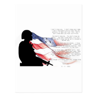 Tribute To the Man Who Killed Bin Laden Postcard