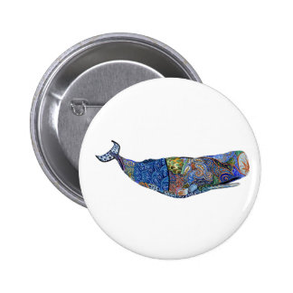 TRIBUTE TO WHALES 6 CM ROUND BADGE