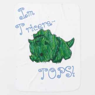 Triceratops and octopus pun front and back blanket