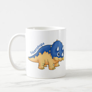 triceratops basic white mug