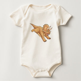 Triceratops cartoon baby bodysuit