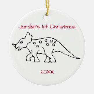 Triceratops Christmas Christmas Ornament