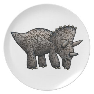 Triceratops Dinner Plate