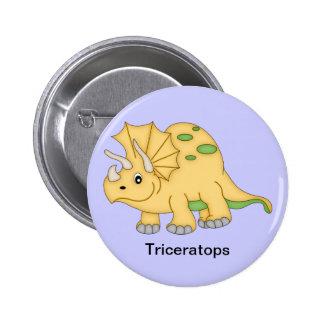 Triceratops Dinosaur 6 Cm Round Badge