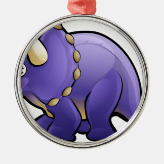 Triceratops Dinosaur Cartoon Character Christmas Ornament