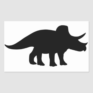 Triceratops Dinosaur. Rectangular Sticker