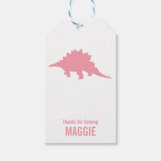 Triceratops Dinosaur Silhouette Birthday Gift Tag