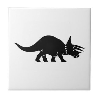 Triceratops dinosaur small square tile