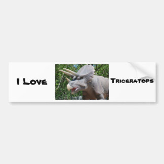 Triceratops Dinosaurs Bumper Sticker