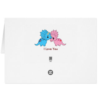 Triceratops love - Greeting card