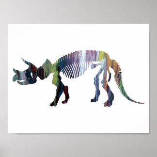 Triceratops prorsus skeleton poster