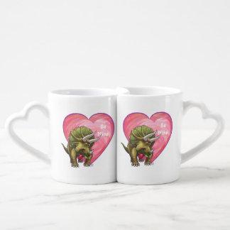 Triceratops Valentine's Day Lovers Mug Sets
