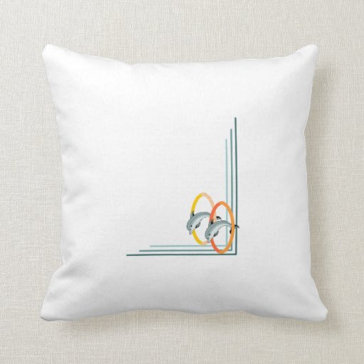 Trick Dolphins Throw Pillow
