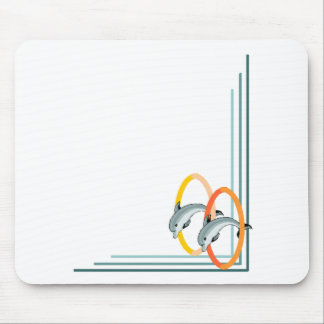Trick Dolphins Mouse Pad