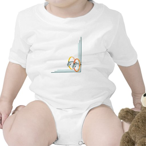 Trick Dolphins Baby Bodysuits
