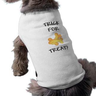 Trick for Treat Dog Halloween Tshirt Dog Tee