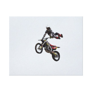 Trick Motocross Gallery Wrapped Canvas