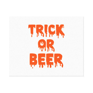 Trick or Beer Halloween Canvas Prints