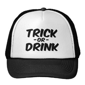 Trick or Drink Funny Halloween Mesh Hats