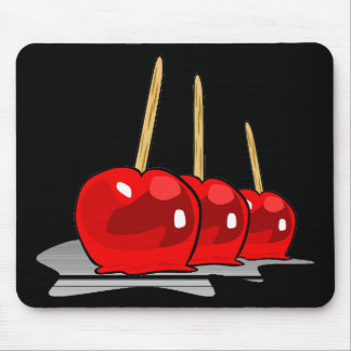 Trick or Treat 3 Red Candy Apples Mouse Pads