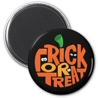 Trick or Treat 6 Cm Round Magnet