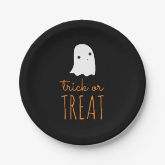 Trick or Treat 7 Inch Paper Plate