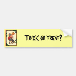 Trick or treat at Halloween Bumper Sticker