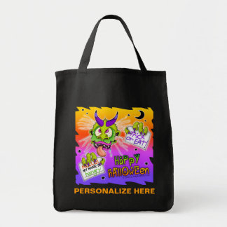 Trick or Treat Bags! - Trick Or Treat Boogyman Grocery Tote Bag