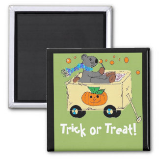 Trick or Treat Bear Square Magnet