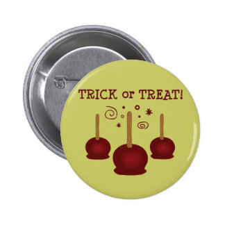 Trick or Treat Candy Apples 6 Cm Round Badge