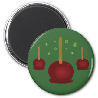 Trick or Treat Candy Apples 6 Cm Round Magnet