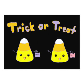 Trick or Treat Candy Corn 13 Cm X 18 Cm Invitation Card