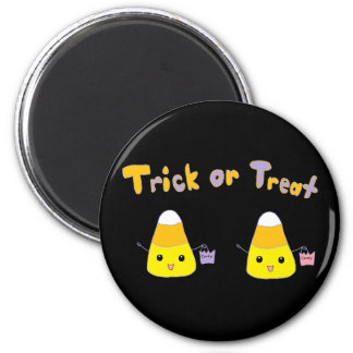 Trick or Treat Candy Corn 6 Cm Round Magnet