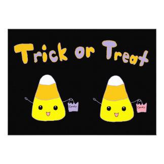 Trick or Treat Candy Corn Invitation