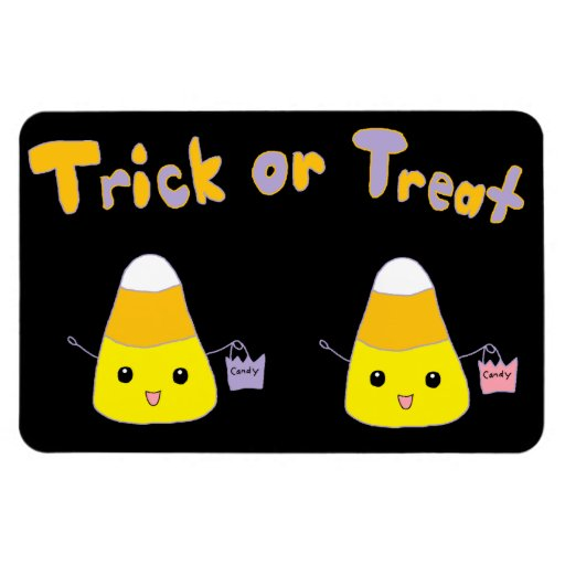 Trick or Treat Candy Corn Magnets