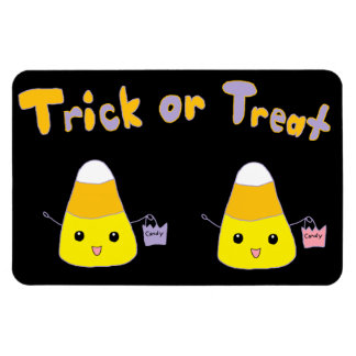 Trick or Treat Candy Corn Rectangular Photo Magnet
