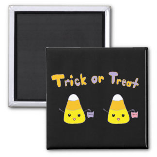Trick or Treat Candy Corn Square Magnet