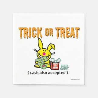 Trick or Treat (cash also accepted) Disposable Napkins