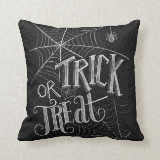 Trick Or Treat Chalkboard throw pillow