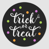 Trick or Treat Confetti | Halloween Stickers