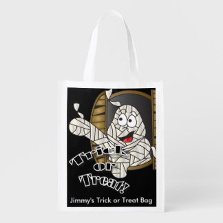Trick or Treat Cute Funny Mummy Market Tote