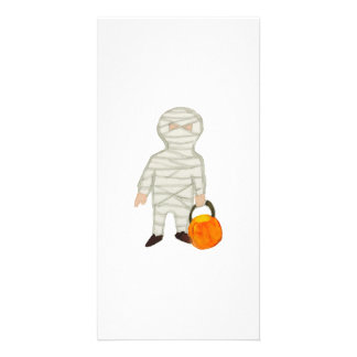 Trick or Treat Cute Halloween Toddler Mummy Zombie Customized Photo Card