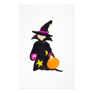 Trick or Treat Cute Halloween Toddler Witch 14 Cm X 21.5 Cm Flyer