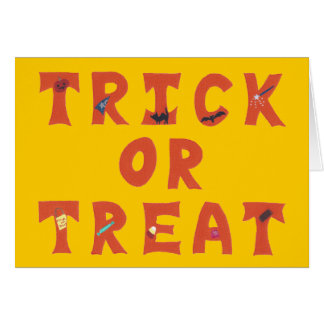 Trick or Treat Decorated Halloween Cards