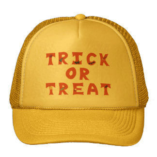 Trick or Treat Decorated Halloween Hats