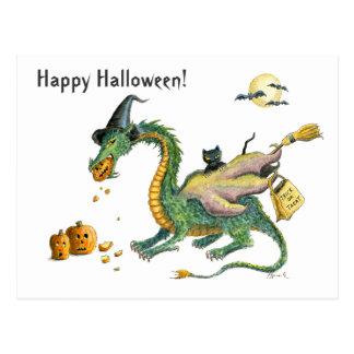Trick or Treat Dragon postcard